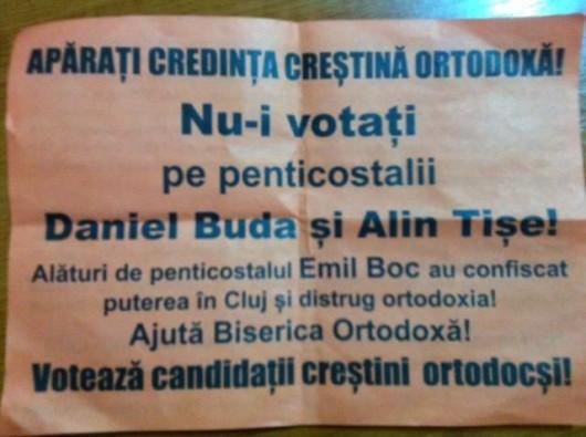 """""""Nu-i votaţi pe penticostali!"""""""