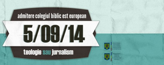 Admitere la Colegiul Biblic Est European –  5 septembrie - Comentarii: 0