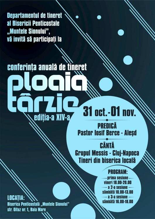 Conferinţa de tineret PLOAIA TÂRZIE - Comentarii: 0