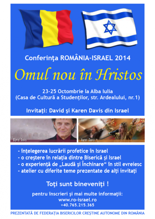"""Conferinţa România – Israel 2014 – """"Omul nou în Hristos"""" - Comentarii: 0"""