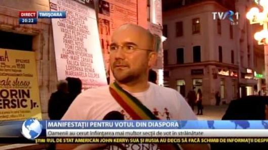 Cristi Cazacu şi Alin Cristea la mitingurile de solidaritate cu românii din diaspora care nu au putut vota în turul I - Comentarii: 2