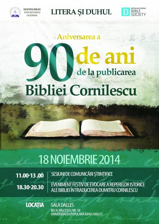 A 90-a aniversare a Bibliei Cornilescu (1924) - Comentarii: 2