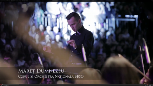 NEW: Corul si Orchestra Nationala BBSO 2014 – Maret Dumnezeu [OFFICIAL VIDEO - Comentarii: 0