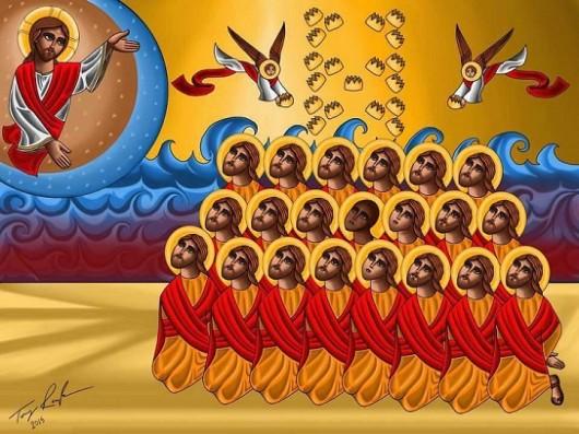 Sfinţii egipteni martiri în Libia, decapitaţi de către Statul Islamic, au deja o icoană - Comentarii: 11