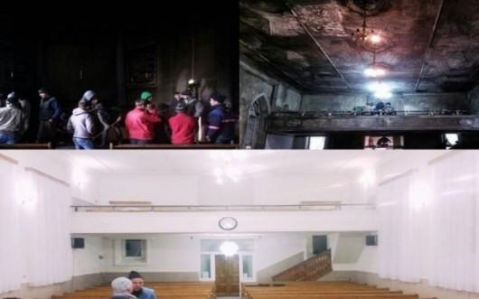 Mobilizare exemplară. O biserică a fost renovată în 30 de ore după ce a fost devastată de un incendiu - Comentarii: 0